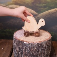 Natural Wooden Turtle Car