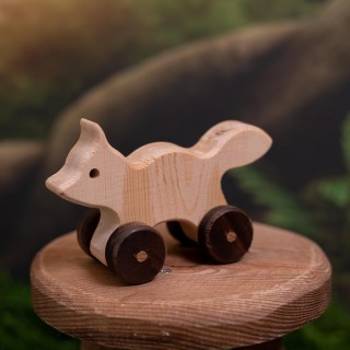 Natural Wooden Fox Car
