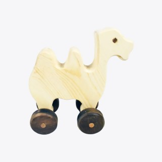 Natural Wooden Camel Car