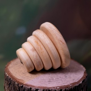 Circle Tower (Montessori) - Natural Wooden Educational Blocks
