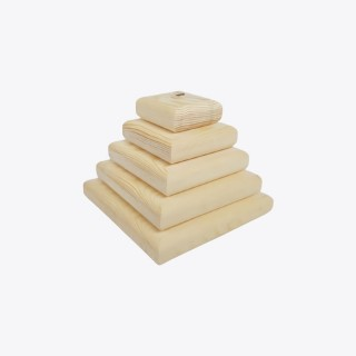 Square Tower (Montessori) - Natural Wooden Educational Blocks
