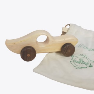 Lightning Natural Wooden Car