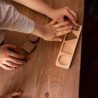Geometric Shapes - Natural Wooden Educational Blocks