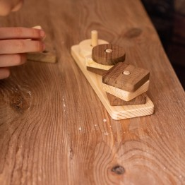 Natural Wooden Geometric Shaped Find, plug