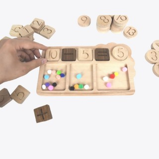 Wooden Math Boards ( 47 Pieces / Designed for Montessori Educations)