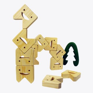 Wooden Tooth Balancing Game (Montessori) / Natural Educational Wooden Toy