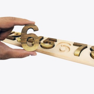 Natural Wooden Educational Numbers - Walnut