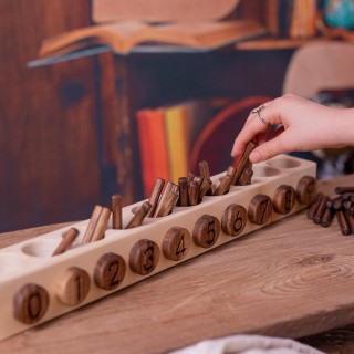 Natural Wooden Number Sticks 2 ( Montessori)