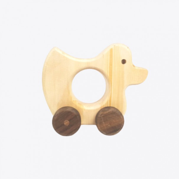 Natural Wooden Duck-Car