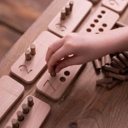 Wooden Number Sticks (Montessori - Natural) - Educational Toy