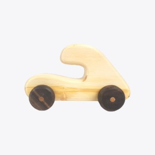 Hatchback Car - Natural Wooden