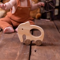Elephant Car - Wooden Toy