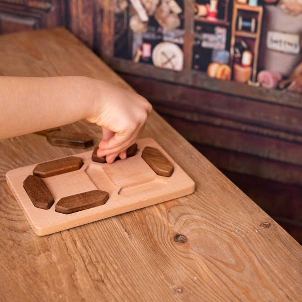 Wooden Digital Numbers - Natural  Educational Toy
